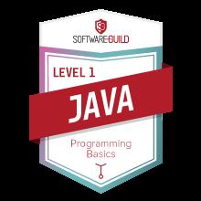 Level 1 Java Programming Basics Badge