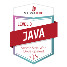 Level 3 Java Server Side Web Development Badge
