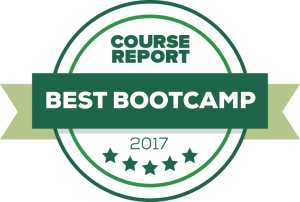 Award Badge from Course Report for 2017 Best Bootcamp