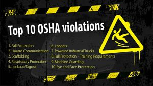 thumbnail image top 10 OSHA violations