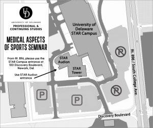 medical aspects of sports seminar parking map