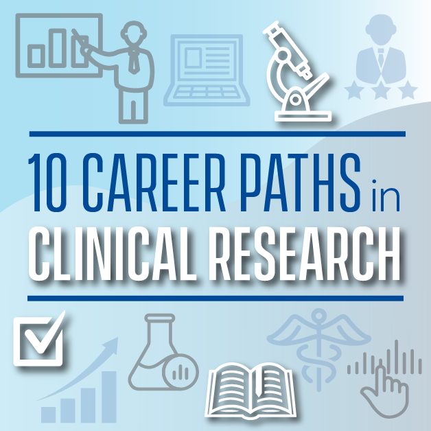 10 CAREER PATHS IN CLINICAL RESEARCH BUTTON