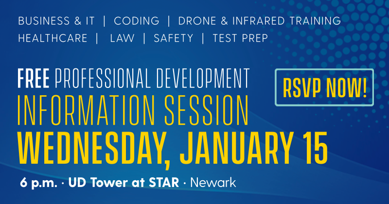 RSVP Now banner promoting information session on January 15