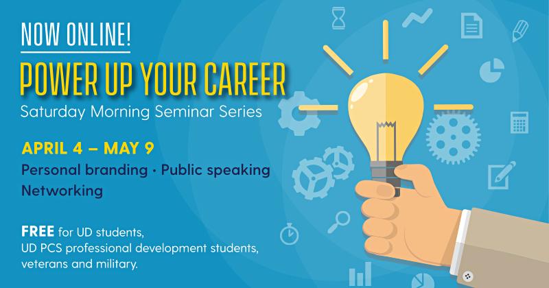 University of Delaware Power of Your Career banner