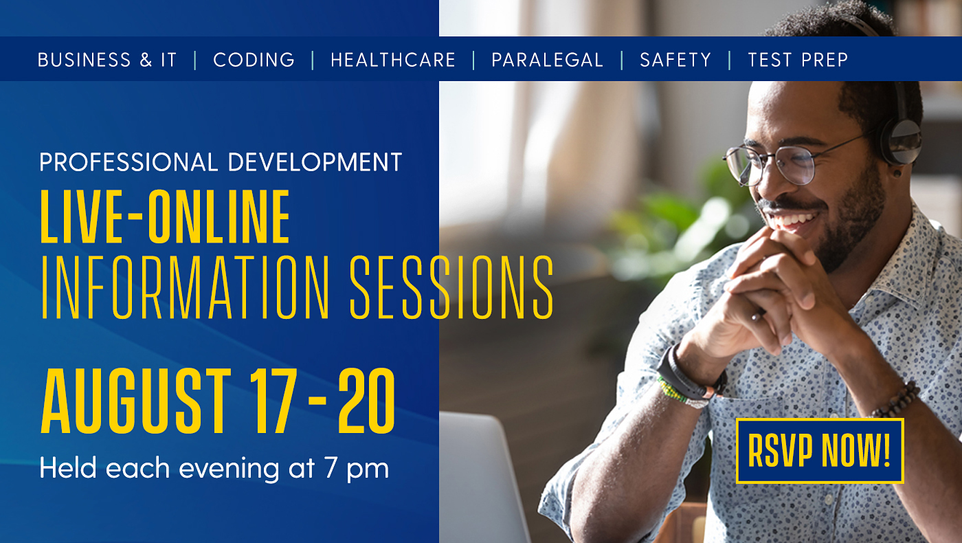 Online Fall 2020 Info Sessions Held Each Evening at 7 PM