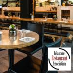 Restaurant scene, UD and DRA logos