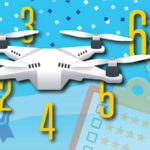 Drone with awards and numbers one through seven